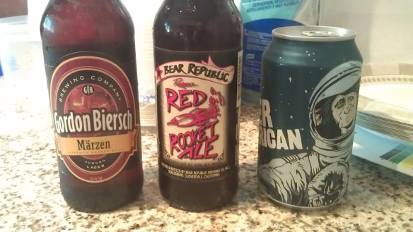 Beers to fit the Mars landing theme...